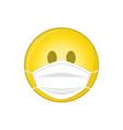 emoji with medical mask vector image