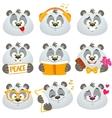 emotions panda vector image vector image