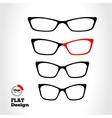 Eye glasses set Optical glass appliance for vector image