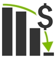 Financial Crisis Flat Icon vector image vector image