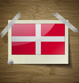Flags Military Order Malta at frame on wooden vector image