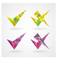 geometric confirm and rejected icons vector image