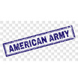 grunge american army rectangle stamp vector image vector image