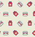 Hamburger seamless background vector image vector image