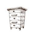 hand drawn box hive vector image