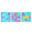 holographic retro futuristic cover set vector image vector image