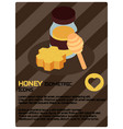 honey color isometric poster vector image