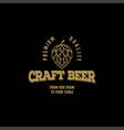 hops craft beer ale brewery label logo design vector image vector image