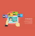 human resource management concept vector image vector image
