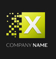 letter x logo symbol in the colorful square vector image vector image