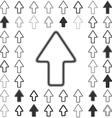 Line arrow logo design set vector image vector image