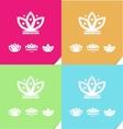 Lotus flower meditation logo icon vector image vector image