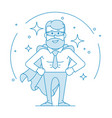 male office worker in a superhero costume vector image