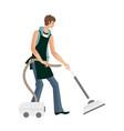 man holding vacuum pump vector image