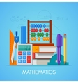 Math science education concept poster in vector image