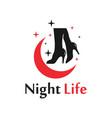 modern night social world logo vector image vector image