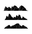 mountain silhouettes overlook rocky hills vector image vector image