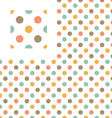 Multicolor polka dots geometric pattern swatch vector image vector image