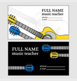 music business card guitar teacher vector image vector image