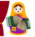 musician with accordion vector image vector image