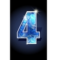 number blue shine design vector image