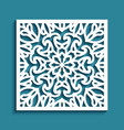 ornamental tile with cutout paper pattern vector image vector image