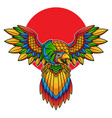 parrot flash tattoo vector image vector image