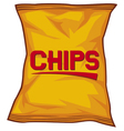 Potato chips bag vector