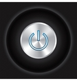 Power button on Carbon fiber background vector image