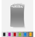 realistic design element milk vector image