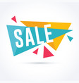 sale and promotion banner with modern geometric vector image vector image