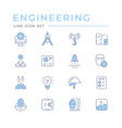 set color line icons engineering vector image vector image