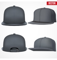 Set Layout of Male black rap cap vector image vector image