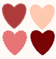 set of basic shapes of hearts for napkins cards vector image