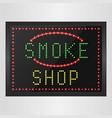 shining retro light banner of smoke a shop vector image vector image