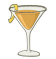 sidecar cocktail vector image vector image