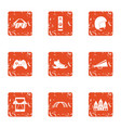 simulate icons set grunge style vector image vector image