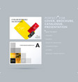 square design presentation template with colourful vector image
