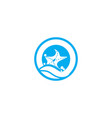 star sea icon design vector image