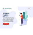 support service concept for web design landing vector image vector image