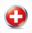 Switzerland flag button vector image