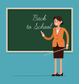 Teacher in a Classroom with a Blackboard vector image vector image
