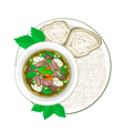Thai Green Curry with Rice Vermicelli vector image