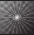 transparent bright sun shines on a checkered backg vector image vector image