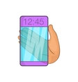 Transparent smartphone icon cartoon style vector image vector image