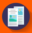 two-fold brochure icon flat style vector image