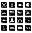 USA set icons grunge style vector image vector image