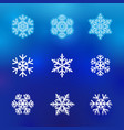 winter snow line icons vector image vector image
