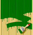 wood boards painted in green color with a paint vector image vector image