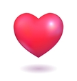 Pink heart vector image